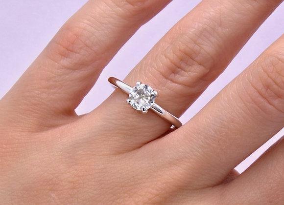 Green Amethyst & Silver Ring