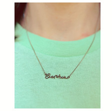 18k White Gold name necklace