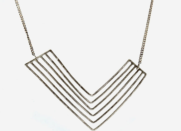 L Shaped Oxidised Necklace