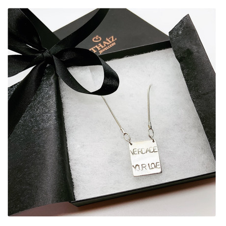 Message Silver Necklace
