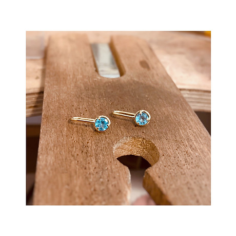Apatite & 18k Yellow Gold Earrings