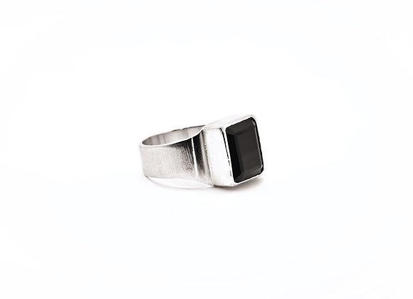 Black Onyx & Silver Ring