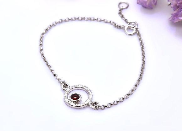 Ruby & Silver Bracelet