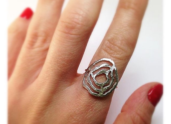 Tree Age Silver Ring