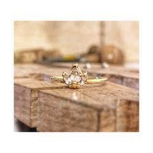 Pink Tourmaline and 18k Yellow Gold Ring