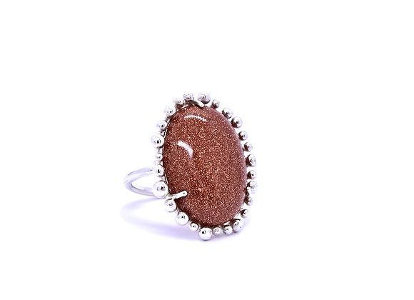 Sunstone & Silver Ring