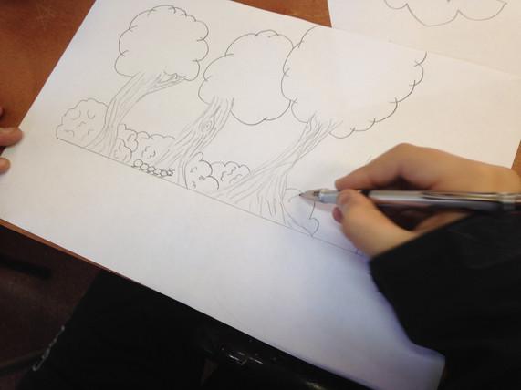 visualización y dibujo  de ideas