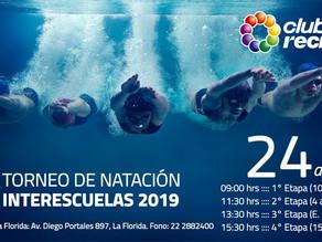 Torneo de Natación Interescuelas 2019 en Club Recrear