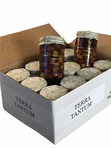 12 x Taggiasca Oliven in Salzlake