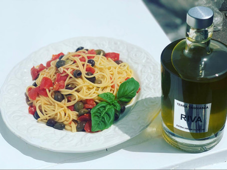 REZEPTIDEE: PASTA mit TAGGIASCA Oliven und Ligurischen Extra Vergine Olivenöl