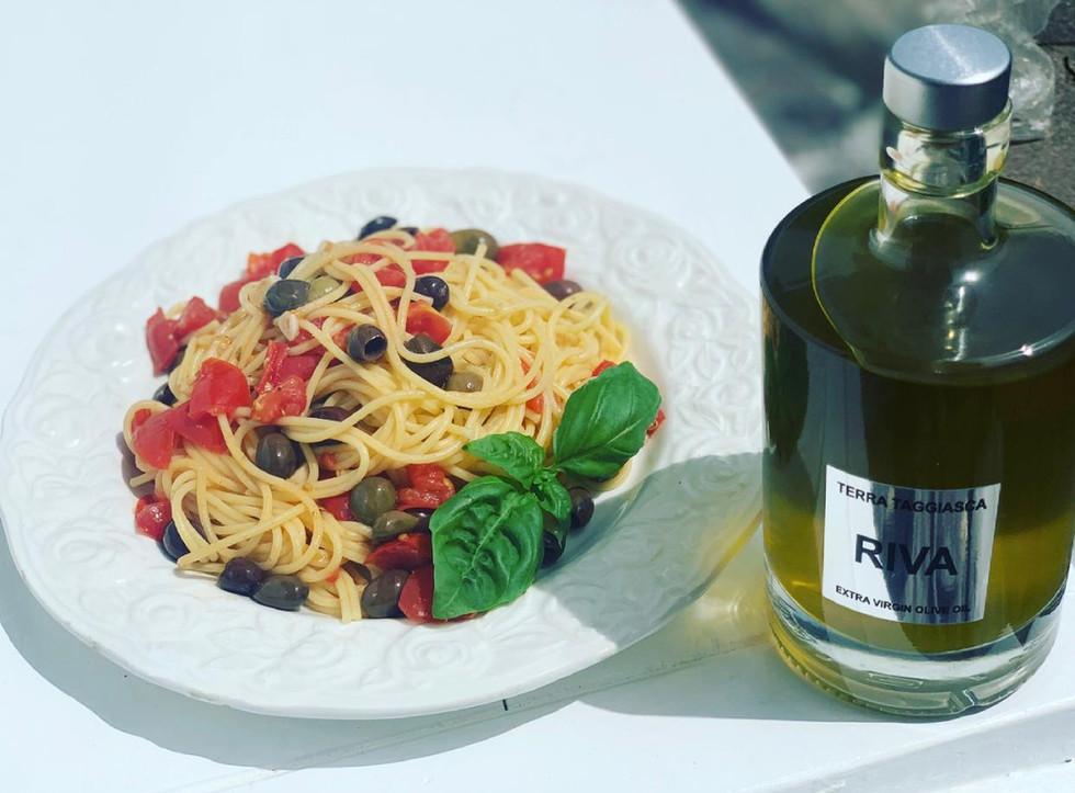 Pasta mit Taggiasca Olivenöl