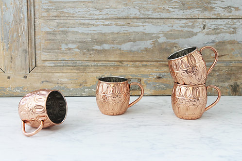 Coppermill Kitchen Embossed Mugs Set of 4(Horizontal)
