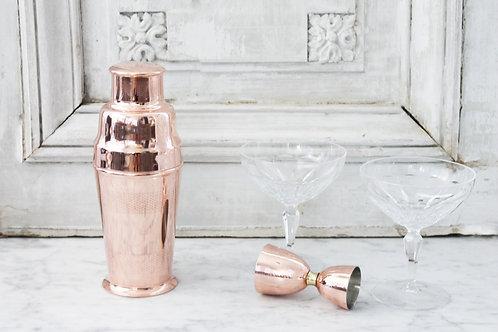 CMK Vintage Inspired  Cocktail Shaker & Jigger