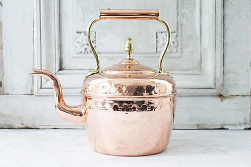 Antique French Embossed Tea Kettle, C. 1880