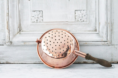 Antique French Strainer, C. 1940