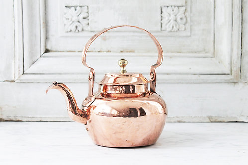 Antique French Bellied Tea Kettle, C.1880