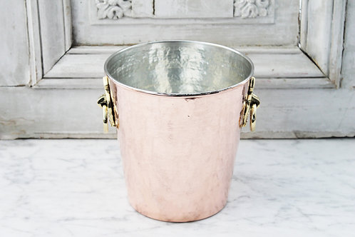 Antique French Hand Hammered Champagne Bucket, C. 1880