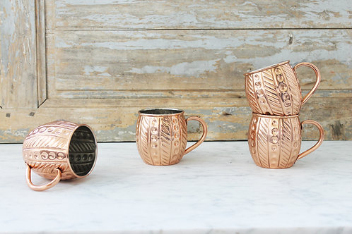 Coppermill Kitchen Embossed Mugs Set of 4
