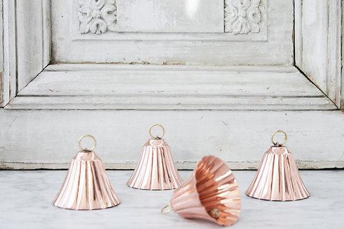 CMK Copper Bell Ornaments Set/4