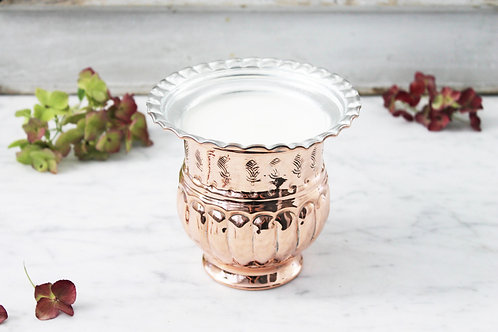 Antique French Embossed Jardiniere Candle c.1880