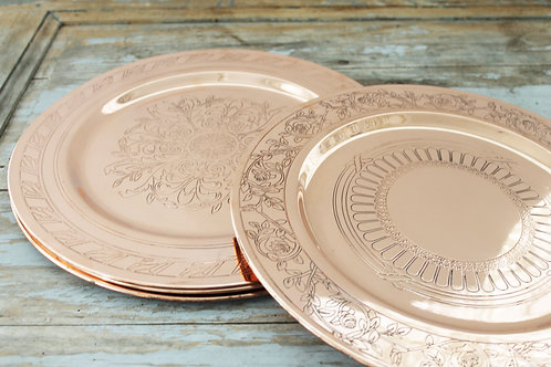 Coppermill Kitchen French Inspired Medallion Chargers Set of 4