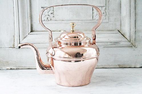 """Antique French """"Villiedieu"""" Tea Kettle, C. 1920"""