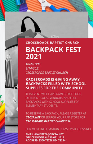 Backpack Fest 2021 Event