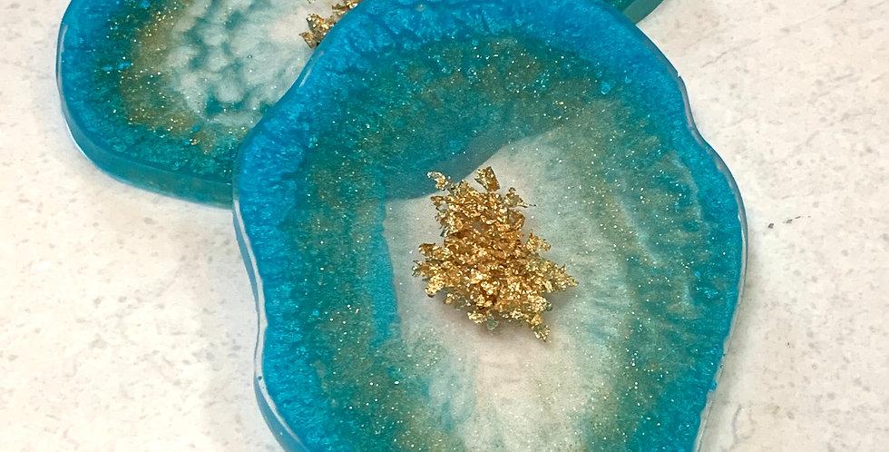 Set of 2 Coasters - Ocean Vibe