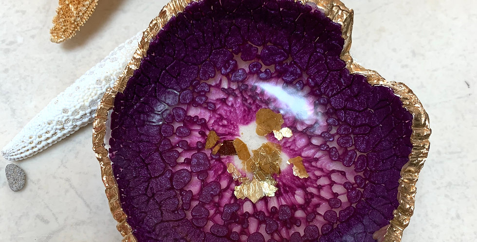 Trinket Bowl Plum & Gold