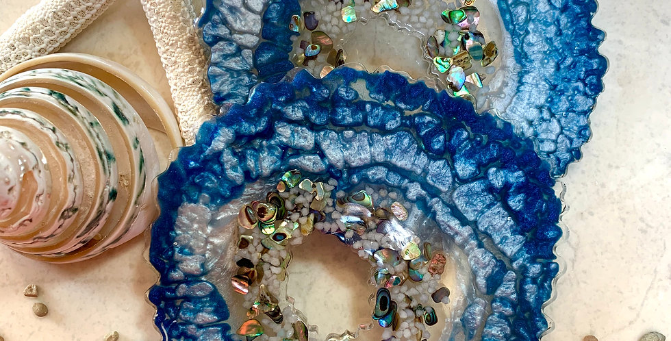 Set of 2 Coasters -Ocean Vibes