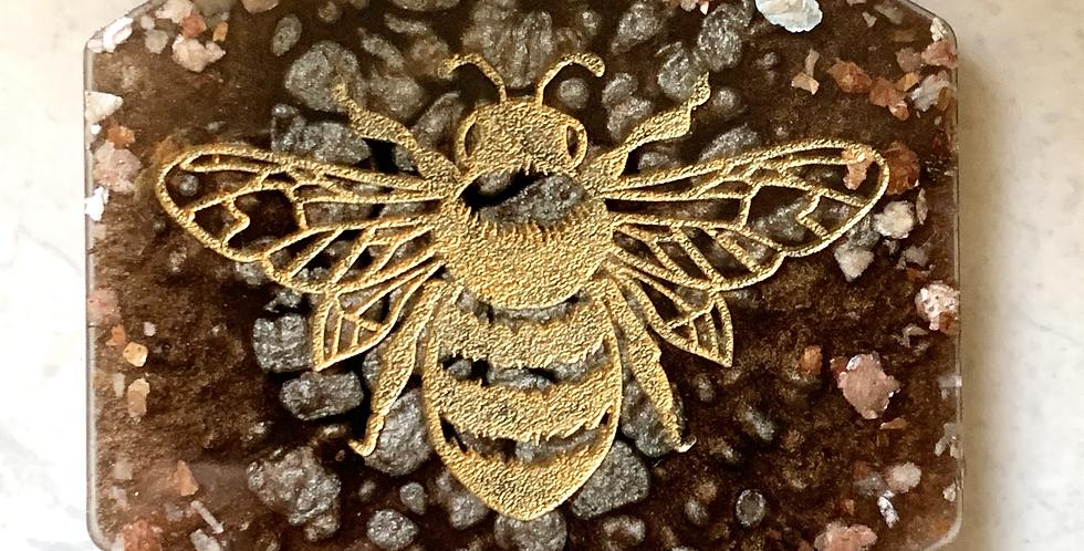 Bronze & Peach Bee Coaster