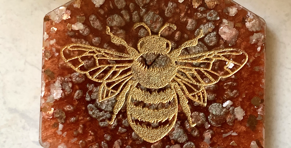 Coppery Blush Bee Coaster