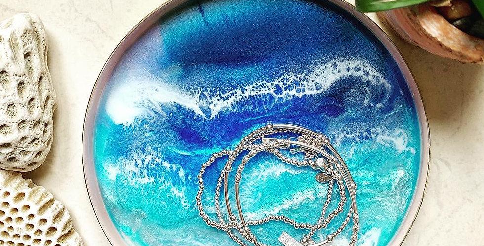 Round Ocean Trinket Dish