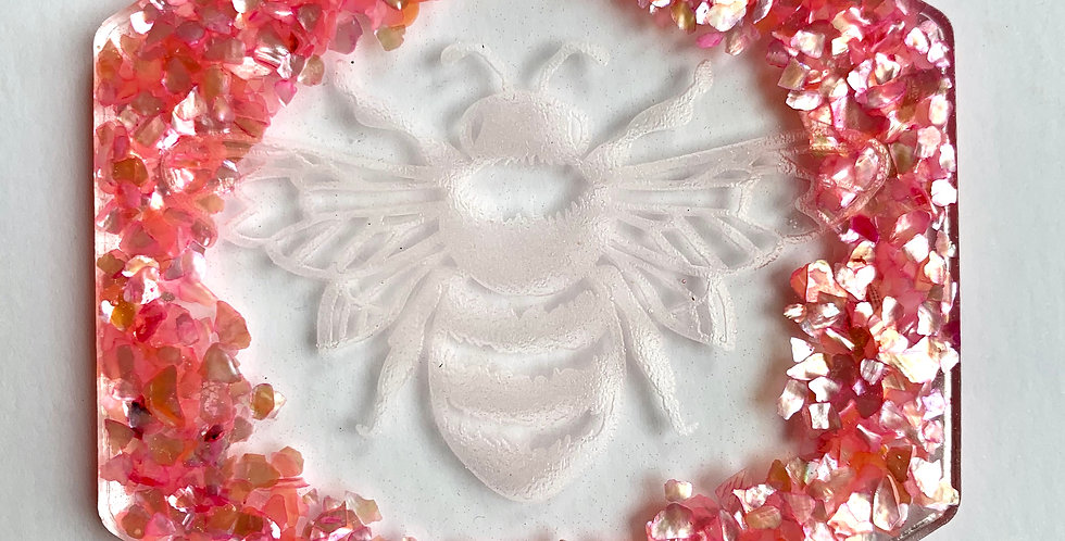 Pink Shell Bee Coaster