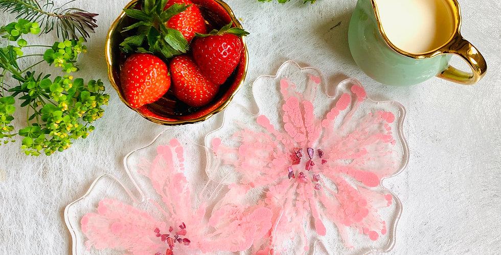 Flower Coasters Baby Pink