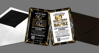Gatsby Theme Birthday Invitation