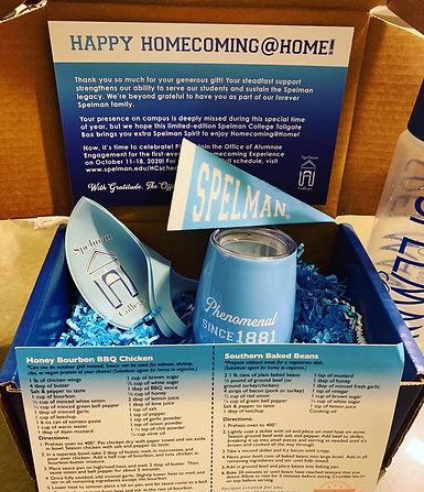 Spelman Homecoming at Home box