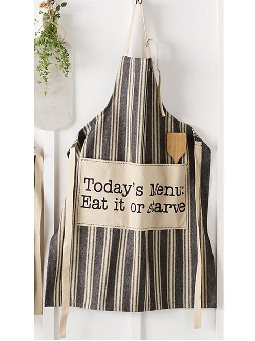 Today's Menu Eat or Starve Apron