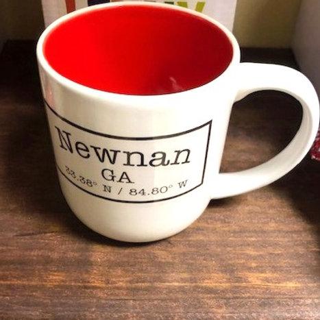 Latitude Newnan Longitude Mug
