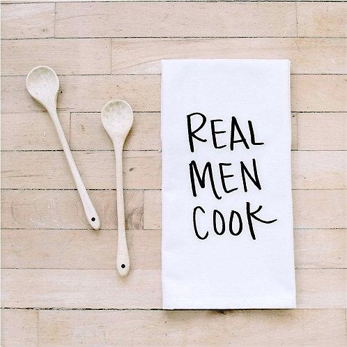 Real Men Cook Kitchen Tea Towel