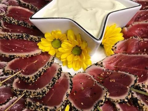 Sesame Crusted Seared Ahi w/ Wasabi Aioli