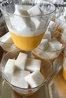 Mango Pudding with Coconut Haupia