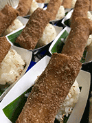 Fried Bananas and Coconut Sticky Rice