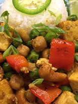 Vegan Curry Tofu w/ Cashews
