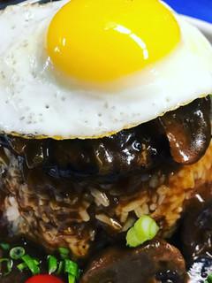 Loco-Moco w/ Mushroom Gravy & White Rice