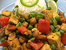 Vegan Curry Tofu w/ Cashews