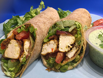 Vegan Samosa Wrap