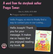 Pragya Tomar comment Princess for a Day.