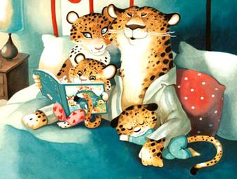 Leopard family readfing Junia.jpg
