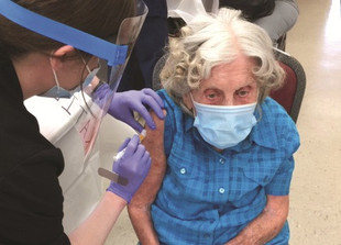 105-Year-Old Gets Vaccinated